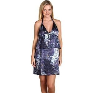 EDUN Dresses & Skirts - EDUN Glass Watercolor Print Silk Halter Dress