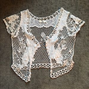 Tops - ISSI lace cover up