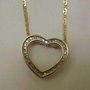 Other - Estate Vintage 10k gold. 50ct diamond pendant
