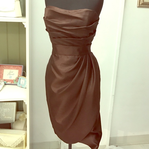 Dresses Chocolate Brown Cocktail Dress Poshmark