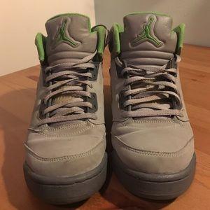 online store f952a 50ecc ... discount jordan shoes air jordan 5 green bean gs very rare d3a05 9af18
