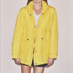 London Fog Jackets & Blazers - Vintage London Fog Yellow Coat