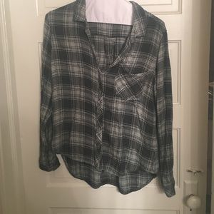 Cloth and stone green flannel from Anthropologie