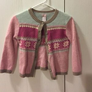 Pink and tan winter sweater