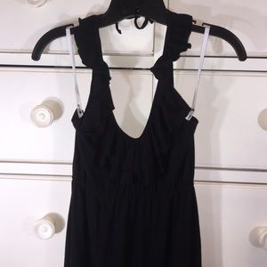 Express knit ruffle halter dress
