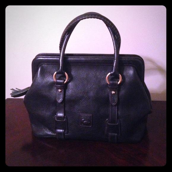 232c8d7c0359a2 Dooney & Bourke Handbags - Dooney & Bourke Black Florentine Mitchell Satchel