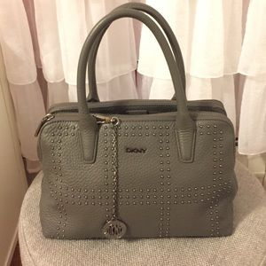 DKNY Handbags - DKNY Grey Leather Bag with shoulder strap