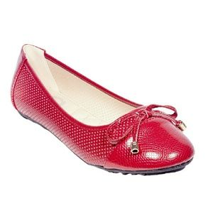 Tory K  Shoes - ONE Tory K Women Bow Flats, b-2044, Red