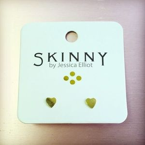 14k Gold Plated Tiny Heart Studs