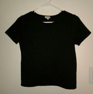 Textured black crop top