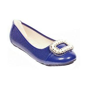 Tory K  Shoes - ONE Tory K Women Buckle Flats, b-2055, Navy