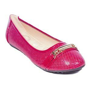 Tory K  Shoes - Women Bracelet Buckle Flats, b-2065, Red