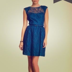 Trina Turk Cagney Lace dress mystic blue, size 6.