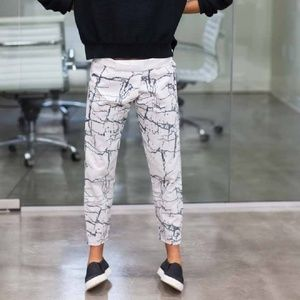 Emerson Fry Crackle print cotton pants
