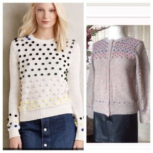 Anthropologie style cardigan candy dot  sweater
