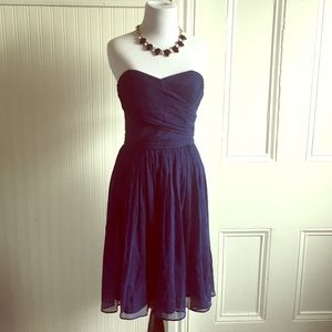 J.Crew Arabella strapless dress in Navy, size 6.