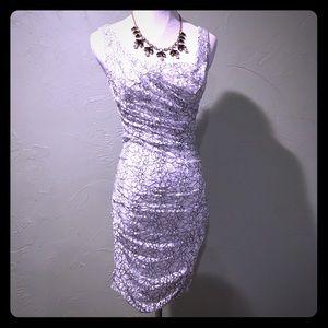 Express Dresses & Skirts - Express White & Black Lace Bodycon Dress