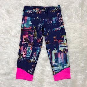 Onzie Pants - [Onzie] Chicago Skyline Spin Capri Leggings Yoga