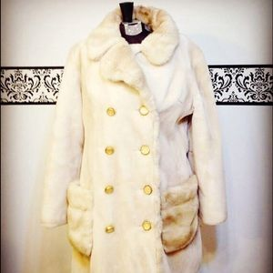 Vintage 1950's Faux Fur Coat