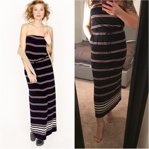 J. Crew Strapless Jersey Maxi Dress