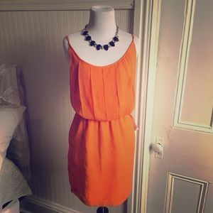BCBG Chiffon dress, size M, color: sunset.