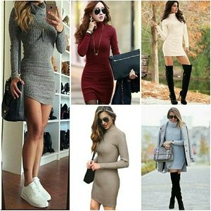 A.L.C. Dresses & Skirts - A.L.C. Fitted Sweater Dress in Camel