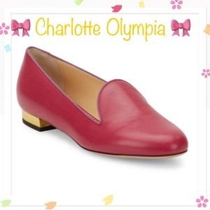 Charlotte Olympia Shoes - 💯Authentic NEW Charlotte Olympia Hot Pink Flats