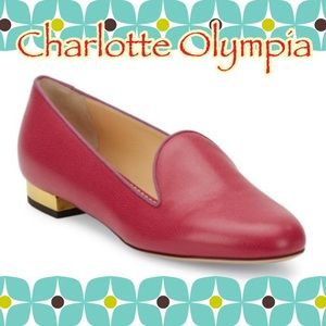 Charlotte Olympia Shoes - 💯Authentic NEW Charlotte Olympia Hot Pink Loafers