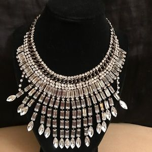 Eye Candy Los Angeles Crystal Necklace-Silver-NWOT