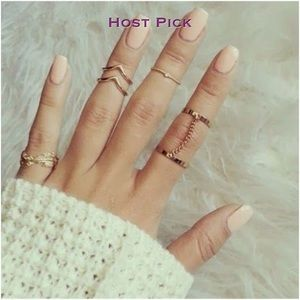 Jewelry - Silver 6pcs Stacking MIDI Rings