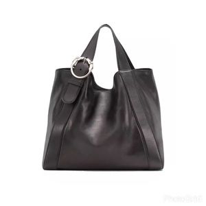 SOLD! Gucci Black Leather Horse Buckle XL Tote