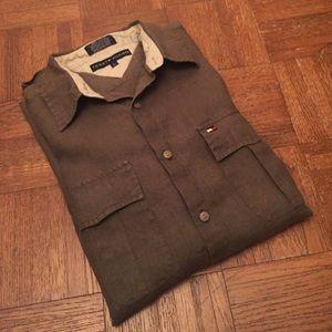 Tommy Hilfiger Linen Button Down
