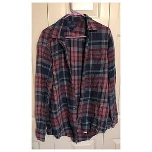Other - Blue and red plaid flannel