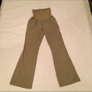 Khaki maternity pants