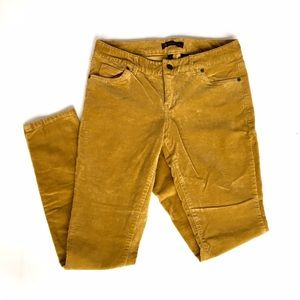 The Limited Pants - The Limited Mustard Corduroy Skinnies