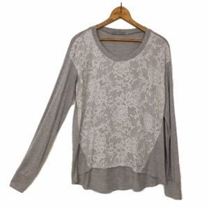 Olivia Moon Tops - OLIVIA MOON Nordstrom floral lace front jersey tee