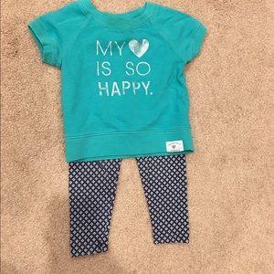 Carter's Other - Carter's Girl Sweatshirt & Leggings Set - 24 mo