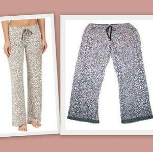 PJ Salvage Other - PJ Salvage Pink & Gray Leopard Print Lounge Pants