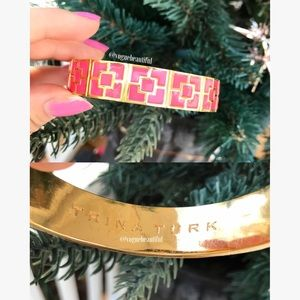 Trina Turk Jewelry - Trina Turk Enamel Brick Bangle Pink