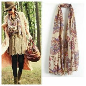 Accessories - Boutique floral infunity scarf pashmina sarong