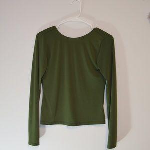 Olive Green Crop Top