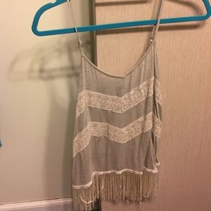 American Eagle fringed tank