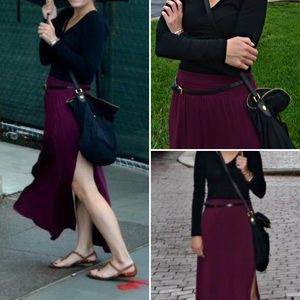 H&M slit maxi skirt
