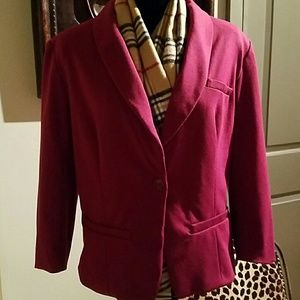 Great soft burgandy blazer by Mossimo