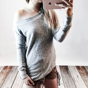 Heather Grey Soft Sweater Top