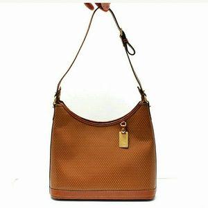 SALE D&B Cabrio  saddle tan perforated handbag