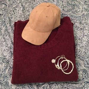 Super Soft Maroon Sweater