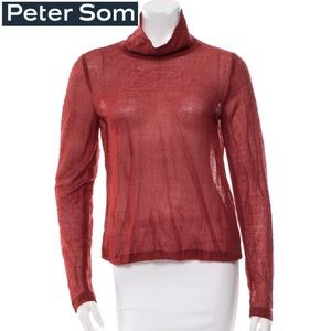 Peter Som Long Sleeve Turtleneck Top - Large