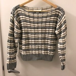 Charlotte Ronson Sweaters - Charlotte Robson Cropped Striped Sweater