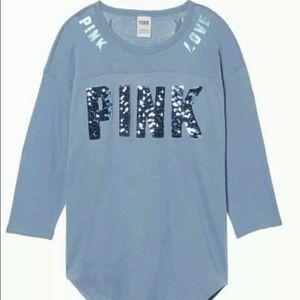 PINK Victoria's Secret Other - VS Pink bling varsity crew Sz XS